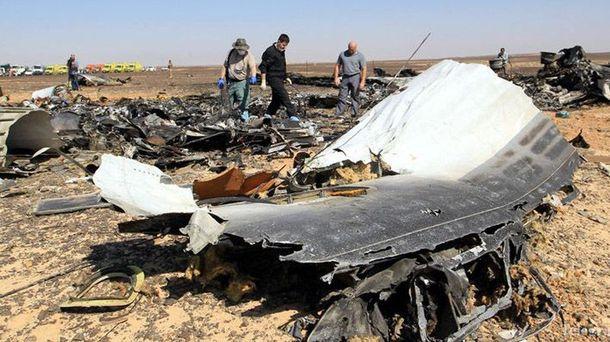 Обломки А321, который разбился в Египте