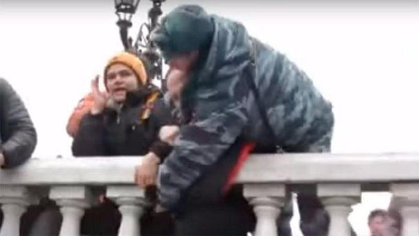 Проукраинская акция в Москве