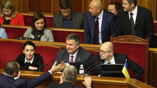 Яценюк на голосовании за