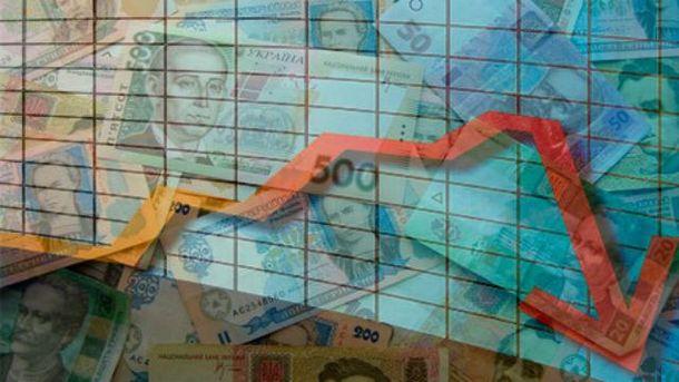Падіння української економіки