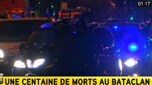 Президент Франции прибыл на место трагедии в зал Bataclan