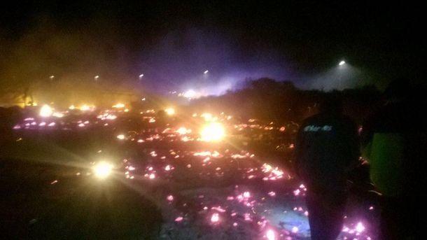 Во Франции сгорел лагерь беженцев