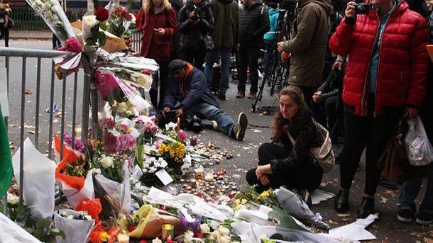 Место теракта в Париже