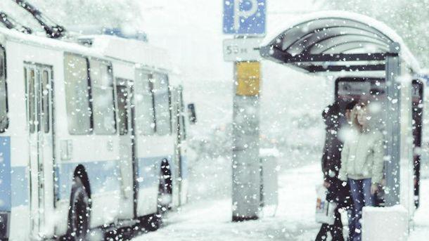 Шесть областей Украины накрыло снегом