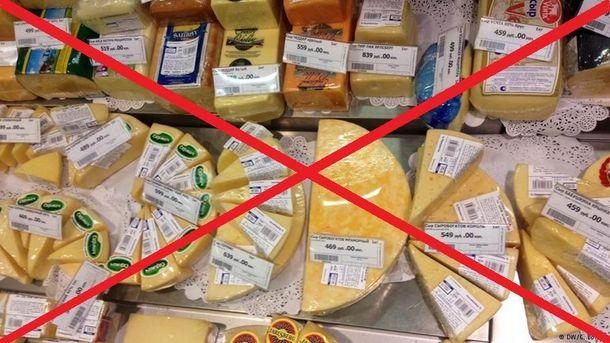 Запрет украинских продуктов