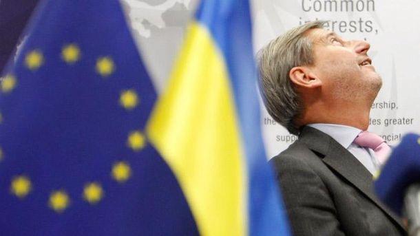 Єврокомісар Хан покатався в українському потязі