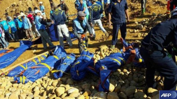 Жертви зсувів ґрунту у М'янмі