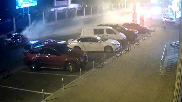 Місце аварії в Одесі