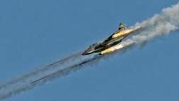 Падает российский истребитель