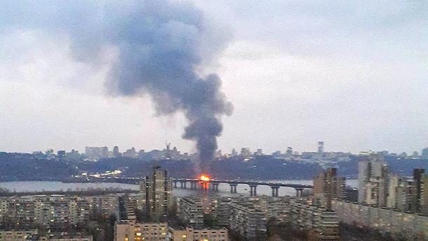 У Києві згорів ресторан