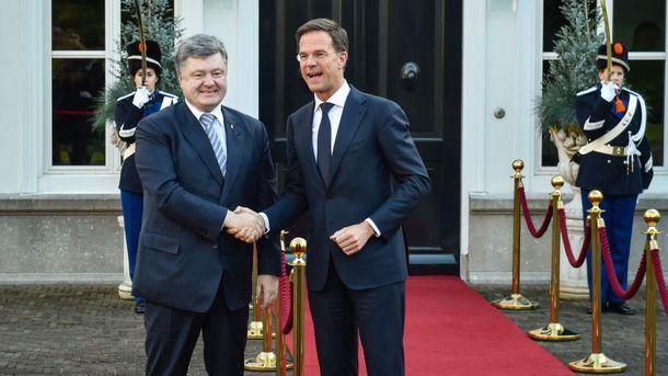 Петро Порошенко і Марк Рютте