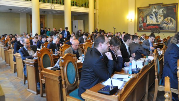 Заседание Львовского городского совета