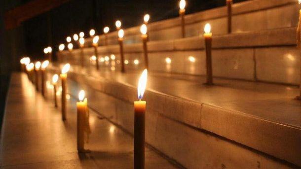 Свечи памяти в Днепропетровске