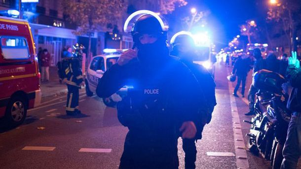 Французские полицейские в ночь терактов в Париже