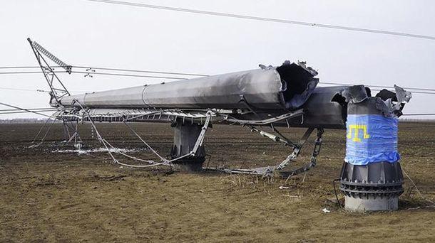 Місце пошкоджених електроопор
