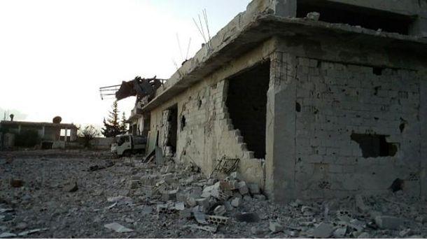 Последствия обстрелов города Идлиб