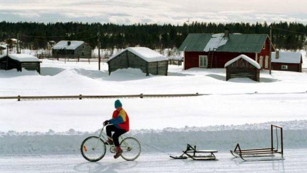 Чоловік на велосипеді