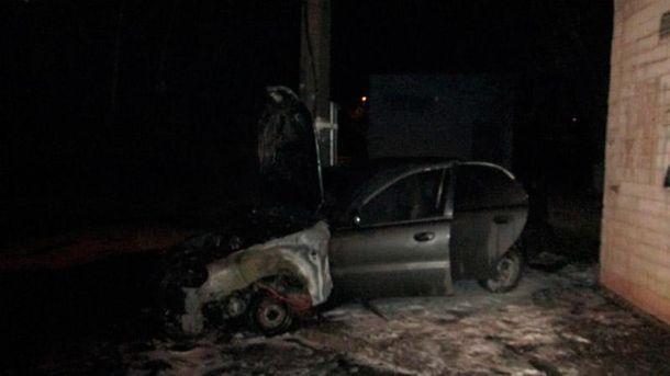 Автомобили сгорели в Киеве