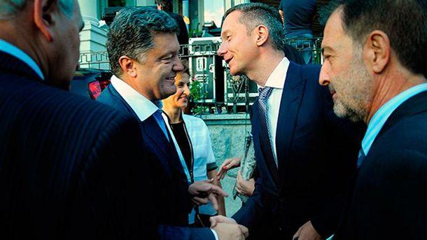 Петро Порошенко і Борис Ложкін