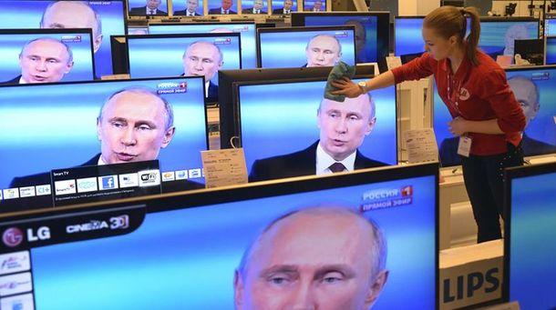 Путін на телеекранах