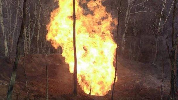 Пожар на газопроводе