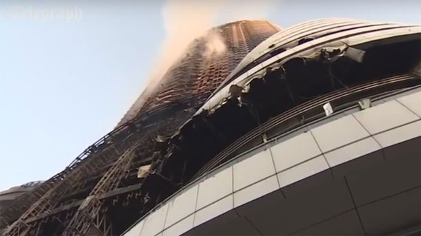 Отель в Дубае после пожара