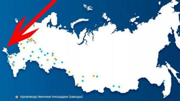 Карта на сайте PepsiCo