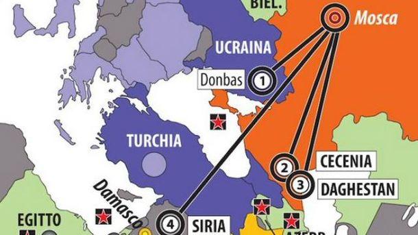 Карта итальянского издания