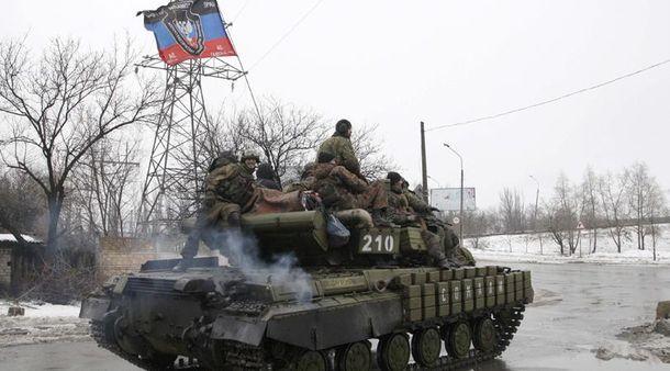 Бойовики на танку