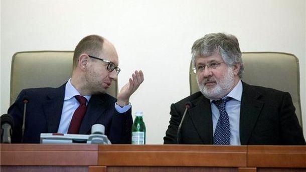 Арсений Яценюк и Игорь Коломойский
