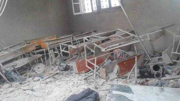 Россия разбомбила школу