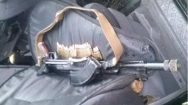 Джип с оружием
