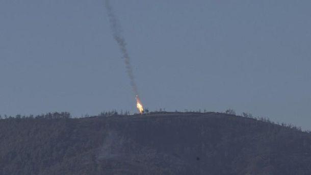 Падение российского самолета