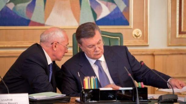 Микола Азаров, Віктор Янукович