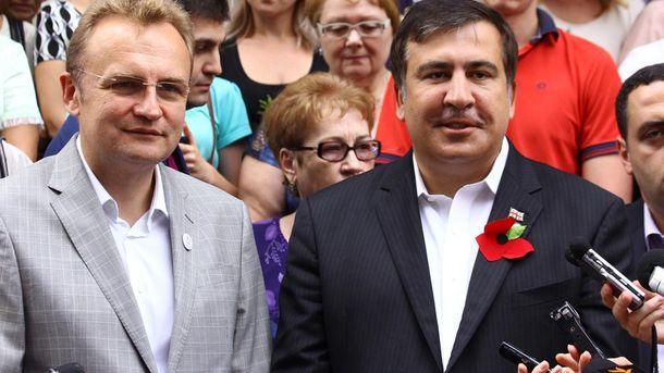 Андрей Садовый и Михаил Саакашвили