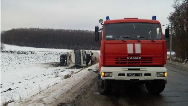 Серйозна аварія наХарківщині: перекинувся бензовоз із дизпаливом