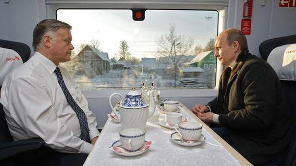 Владимир Якунин и Владимир Путин