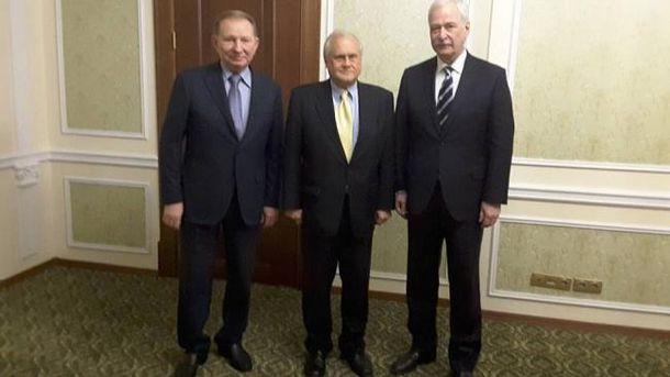 Леонид Кучма, Мартин Сайдик и Борис Грызлов
