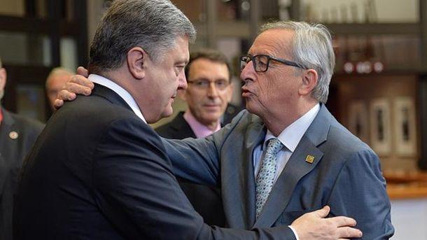 Петр Порошенко и Жан-Клод Юнкер