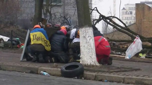 Майданівці на Інститутській
