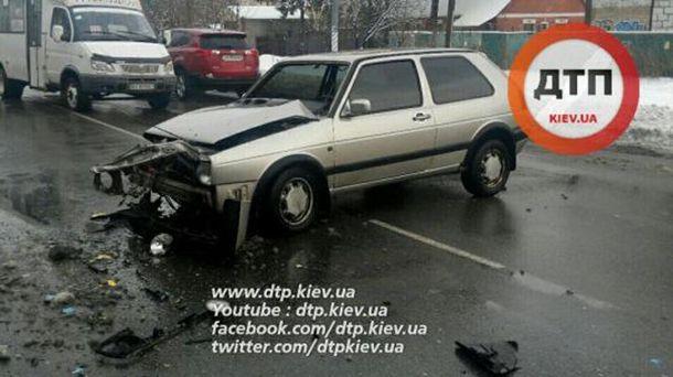 Машина после столкновения