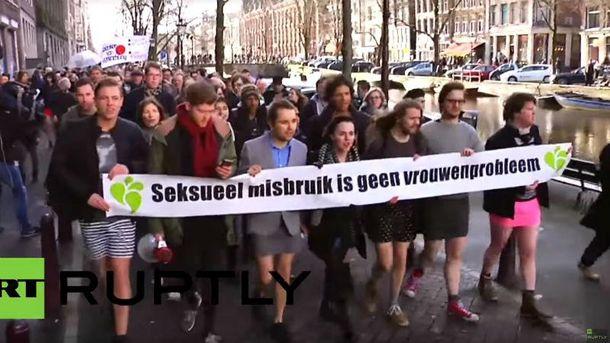 Протест в Амстердаме