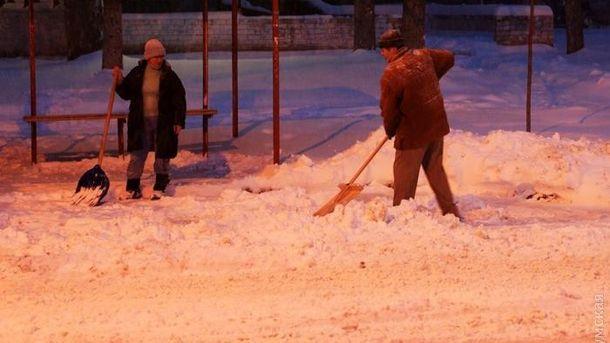Сніг в Одесі