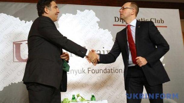 Михеил Саакашвили и Арсений Яценюк