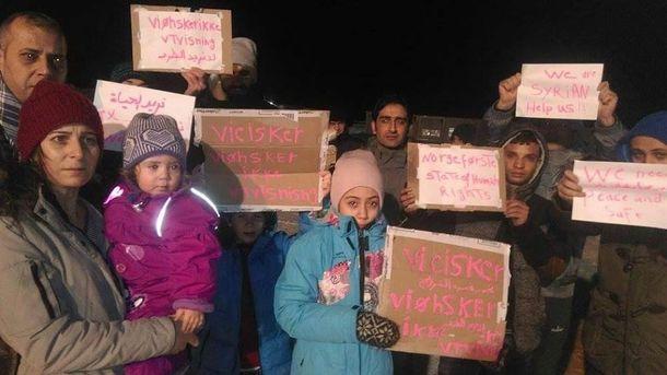 Протестующие беженцы