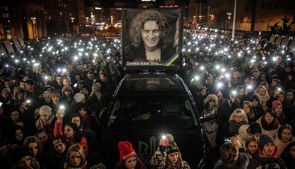 Поклонники Кузьмы Скрябина на Майдане