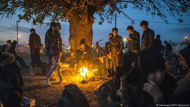 Біженці на кордоні Греції та Македонії