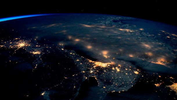Буря у США з космосу