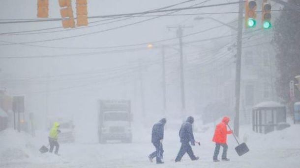 Снігова бюря у США
