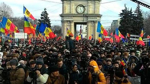 УКишиневі розпочався антиурядовий мітинг